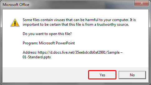 Do you want to open this file?