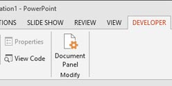 Enable The Developer Tab in the Ribbon - PowerPoint 2013