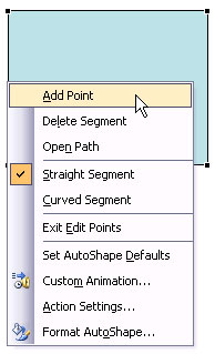 Learn PowerPoint 2003 for Windows: Add or Delete Points (Vertexes) for Shapes