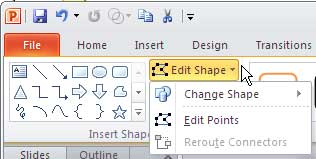 Edit Shape button