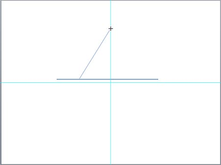 Click on the vertical guide to establish the top point of your parabola