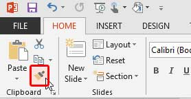 Format Painter button in PowerPoint