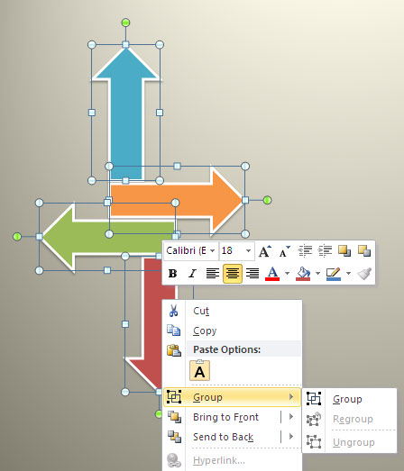 Group Option in PowerPoint