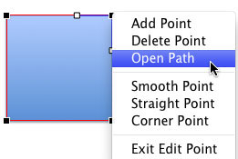 Open Path option selected