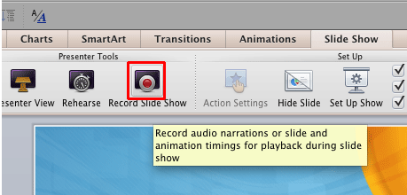 Record Slide Show button