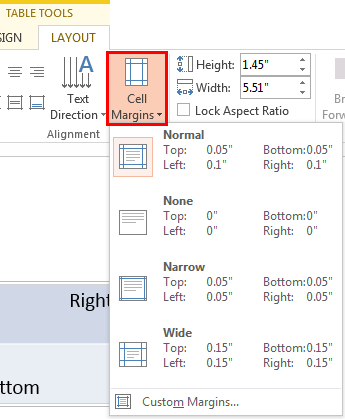 Text alignment within table cells in powerpoint 2013 for for Table th center text