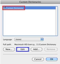 Edit Custom Dictionaries in PowerPoint 2011 for Mac