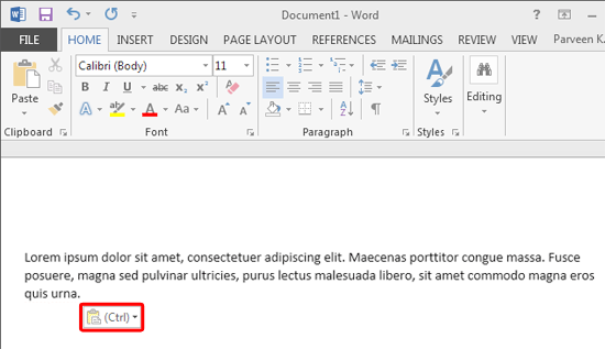 how to cut text in powerpoint