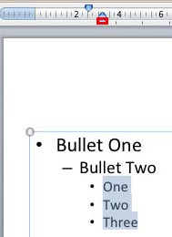 Tweak Bullets with Left Indent Marker in PowerPoint 2011 for Mac