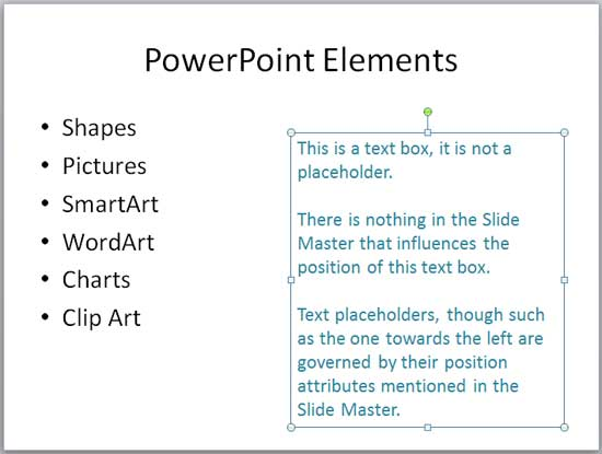 Move Text Boxes on a Slide in PowerPoint 2010 for Windows