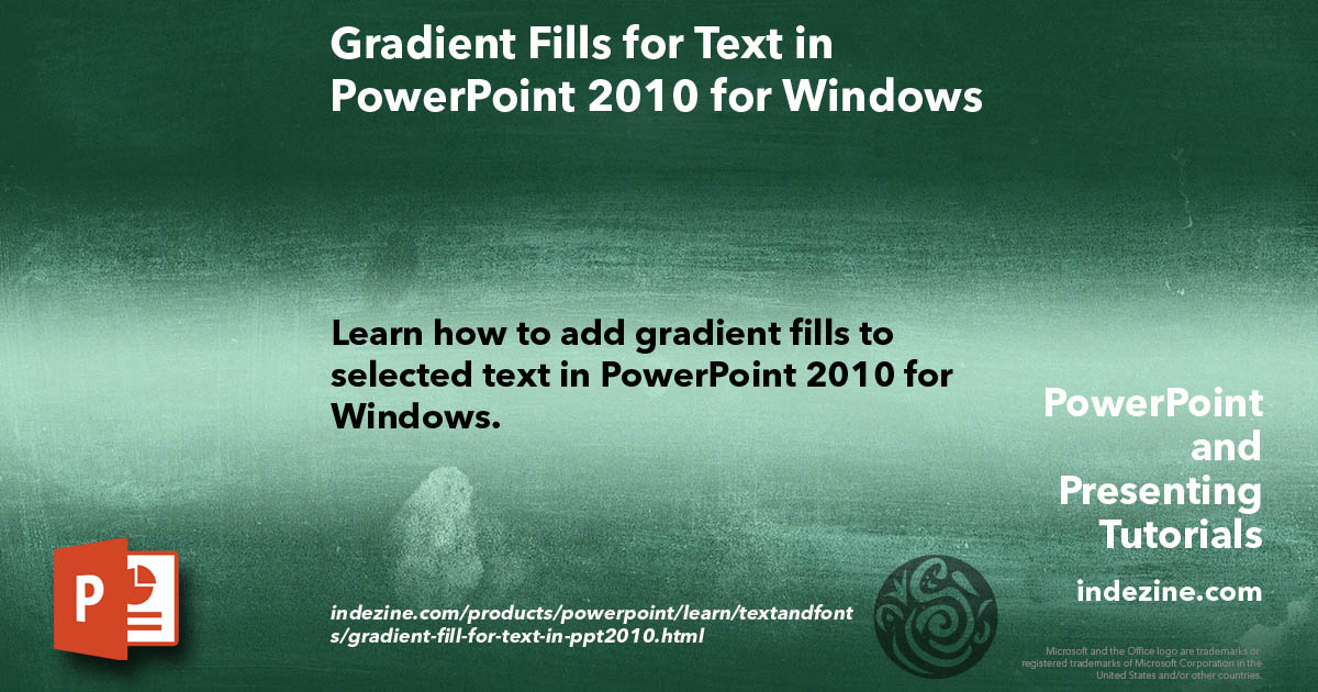 Gradient Fills for Text in PowerPoint 2010 for Windows