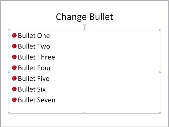 Bullets changed to picture