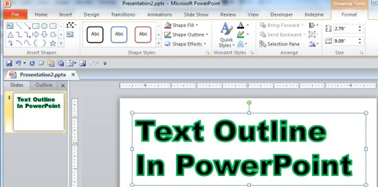 Learn PowerPoint 2010 for Windows: Text Outline