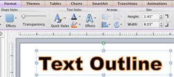 Text Outline in PowerPoint 2011 for Mac