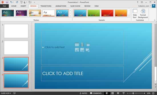 applying themes in powerpoint, word, and excel 2013 | windows, Presentation templates