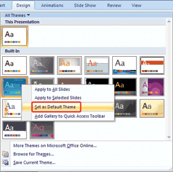 Learn PowerPoint 2007 for Windows: Change the Default Template or Theme