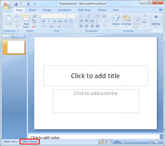 Change the default template or theme in powerpoint 2007 the blank presentation slide has its own secrets toneelgroepblik Choice Image