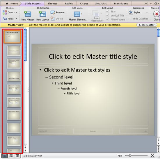 Slide Master in a PowerPoint Presentation