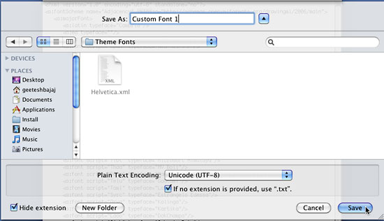 Create custom theme fonts using xml mac mac powerpoint tutorials save the xml file to local user folder location toneelgroepblik Choice Image