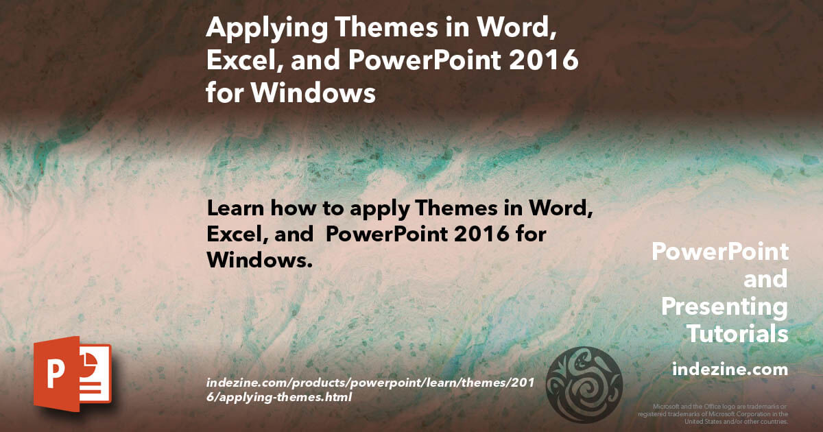 Applying Themes In Word Excel And Powerpoint 2016 For Windows