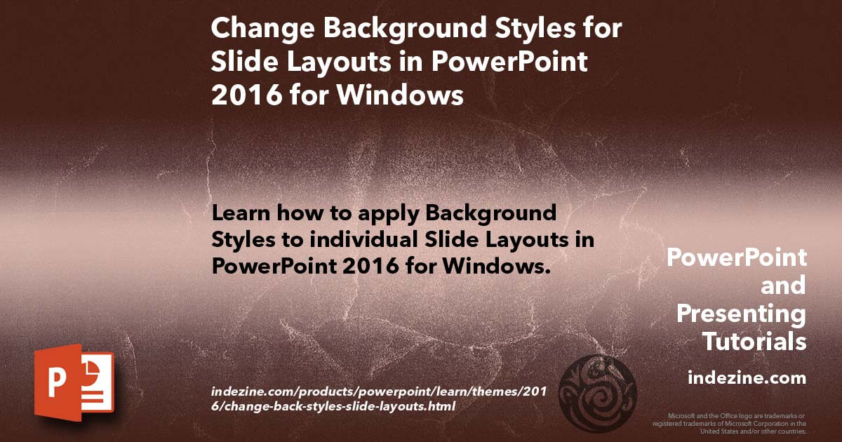 change background styles for slide layouts in powerpoint