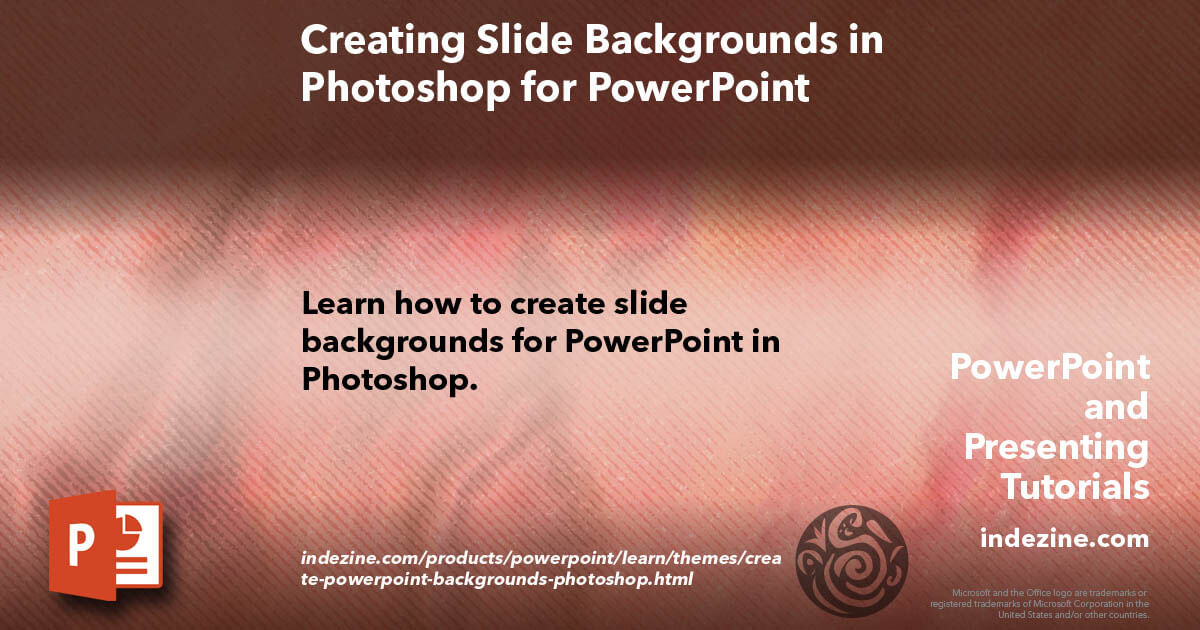 Creating Slide Backgrounds in Photoshop for PowerPoint