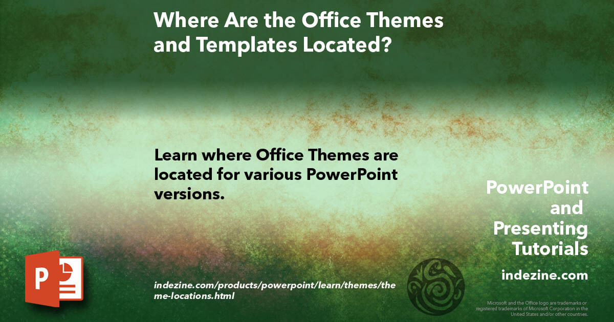 Where Are The Office Themes And Templates Located