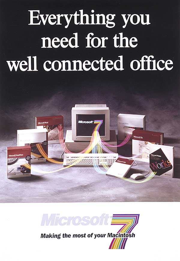 Advertisement: Microsoft Office for Macintosh